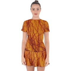 Lightning Internal Blood Vessel Drop Hem Mini Chiffon Dress by Pakrebo