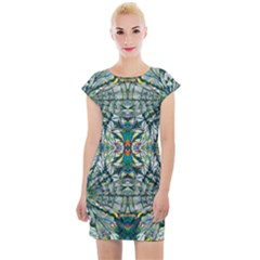 Pattern Design Pattern Geometry Cap Sleeve Bodycon Dress by Pakrebo