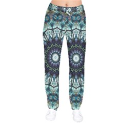 Pattern Abstract Background Art Velvet Drawstring Pants