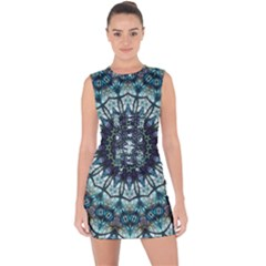 Pattern Abstract Background Art Lace Up Front Bodycon Dress by Pakrebo
