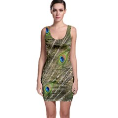 Green Peacock Feathers Color Plumage Bodycon Dress