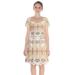 Wells Cathedral Wells Cathedral Short Sleeve Bardot Dress by Pakrebo