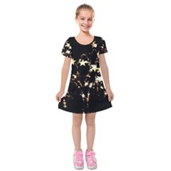 Shooting Stars Kids  Short Sleeve Velvet Dress by WensdaiAddamns