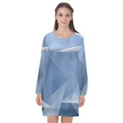 Wallpaper Abstraction Long Sleeve Chiffon Shift Dress  by Alisyart