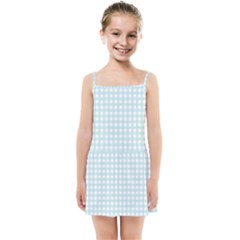 Blue Gingham Kids  Summer Sun Dress