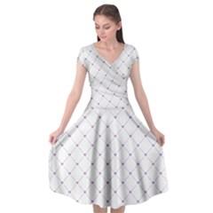 Heart Lines  Cap Sleeve Wrap Front Dress