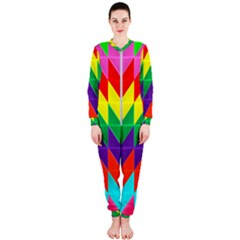 Vibrant Color Pattern Onepiece Jumpsuit (ladies)  by Jojostore