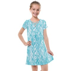 Zigzag Backdrop Pattern Kids  Cross Web Dress by Alisyart