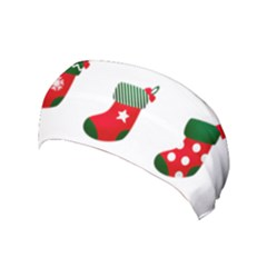 Christmas Stocking Candle Yoga Headband by Mariart