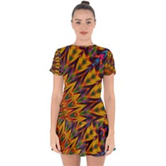 Background Abstract Texture Chevron Drop Hem Mini Chiffon Dress by Mariart