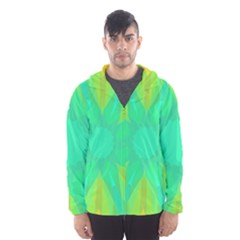 Kaleidoscope Background Green Hooded Windbreaker (men) by Mariart