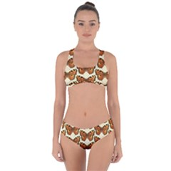 Butterflies Insects Criss Cross Bikini Set