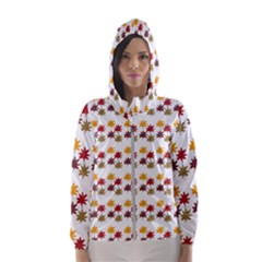 Autumn Leaves Hooded Windbreaker (women) by Mariart