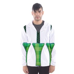 Saint Patrick S Day March Hooded Windbreaker (men) by Mariart