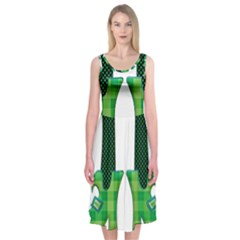 Saint Patrick S Day March Midi Sleeveless Dress