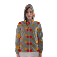 Fall Leaves Autumn Leaves Hooded Windbreaker (women) by AnjaniArt