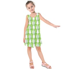 Herb Ongoing Pattern Plant Nature Kids  Sleeveless Dress