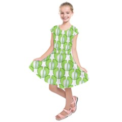 Herb Ongoing Pattern Plant Nature Kids  Short Sleeve Dress