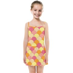 Scallop Fish Scales Scalloped Rainbow Kids  Summer Sun Dress