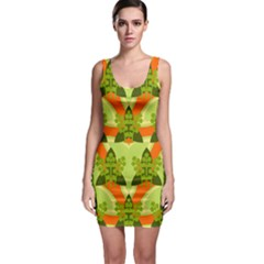 Texture Plant Herbs Herb Green Bodycon Dress