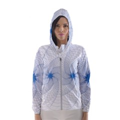 Spirograph Pattern Geometric Hooded Windbreaker (women) by Mariart