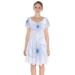 Spirograph Pattern Geometric Short Sleeve Bardot Dress by Mariart