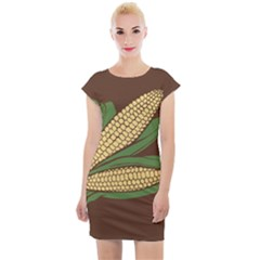 Sweet Corn Maize Vegetable Cap Sleeve Bodycon Dress by Alisyart