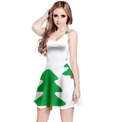 Christmas Tree Holidays Reversible Sleeveless Dress