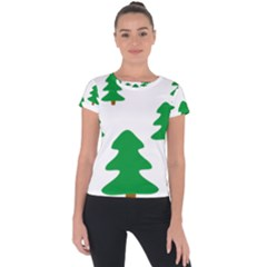 Christmas Tree Holidays Short Sleeve Sports Top  by Alisyart