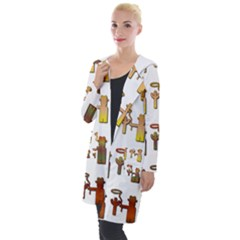 Cowboy Lasso Cactus Western Hooded Pocket Cardigan by Alisyart