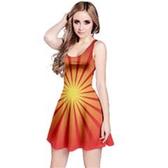 Sunburst Sun Reversible Sleeveless Dress