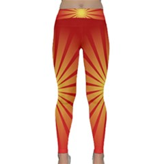 Sunburst Sun Classic Yoga Leggings by Alisyart