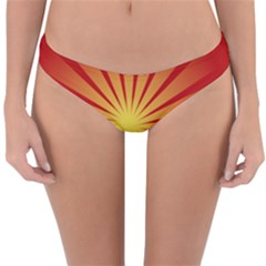 Sunburst Sun Reversible Hipster Bikini Bottoms by Alisyart