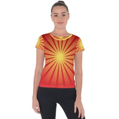 Sunburst Sun Short Sleeve Sports Top  by Alisyart
