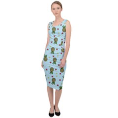 Pineapple Watermelon Fruit Lime Sleeveless Pencil Dress by Mariart