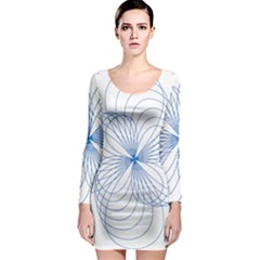 Spirograph Pattern Drawing Long Sleeve Bodycon Dress by Alisyart