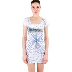 Spirograph Pattern Drawing Short Sleeve Bodycon Dress by Alisyart