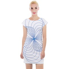 Spirograph Pattern Drawing Cap Sleeve Bodycon Dress by Alisyart