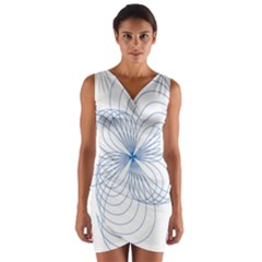 Spirograph Pattern Drawing Wrap Front Bodycon Dress by Alisyart