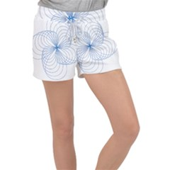 Spirograph Pattern Drawing Women s Velour Lounge Shorts