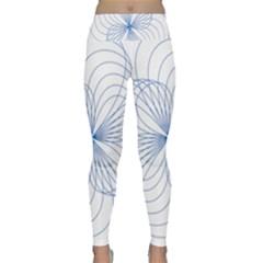 Spirograph Pattern Drawing Lightweight Velour Classic Yoga Leggings by Alisyart