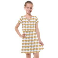 Sunflower Wrap Kids  Cross Web Dress by Mariart
