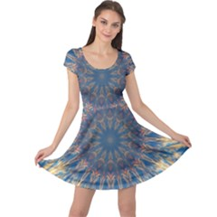 Kaleidoscope Mandala Cap Sleeve Dress