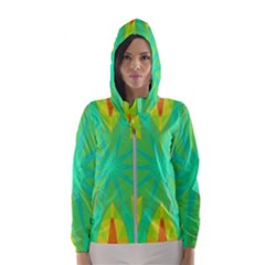Kaleidoscope Mosaic Ornament Hooded Windbreaker (women)