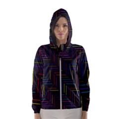 Lines Line Background Hooded Windbreaker (women) by Alisyart
