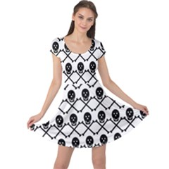 Skull Crossbones Pirate Backdrop Cap Sleeve Dress