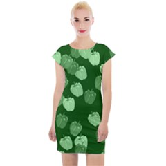 Seamless Paprica Cap Sleeve Bodycon Dress by Alisyart