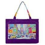 Time Square  Zipper Medium Tote Bag
