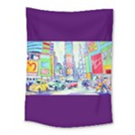 Time Square  Medium Tapestry