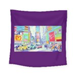 Time Square  Square Tapestry (Small)